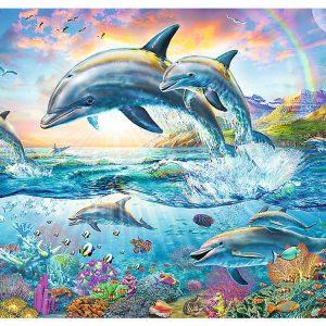 Happy Dolphins 2000 Piece Jigsaw Puzzle