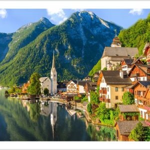 Lakeside Village of Hallstatt Austria 1000 Piece Pintoo Puzzle