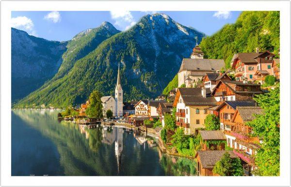 Lakeside Village of Hallstatt Austria 1000 Piece Pintoo Puzzle