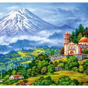 Landscape with Volcano 1000 Piece Trefl Puzzle