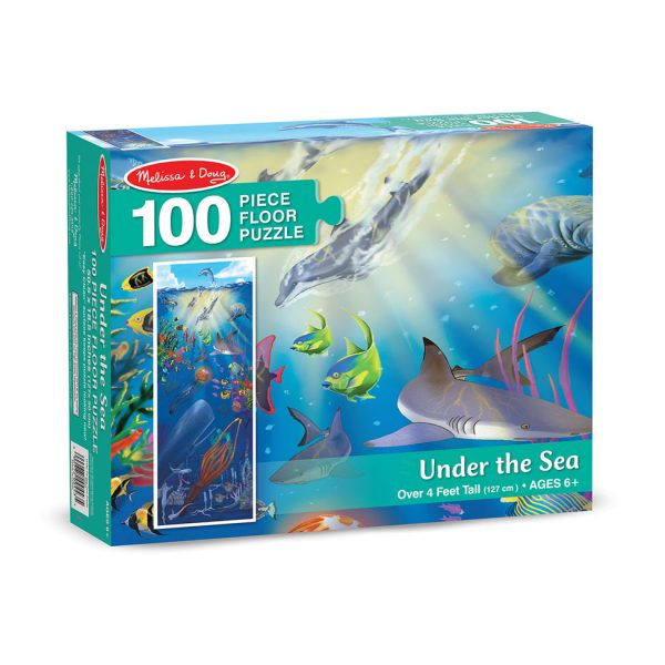 Floor puzzle melissa doug under the sea 100 piece for 100 piece floor puzzles