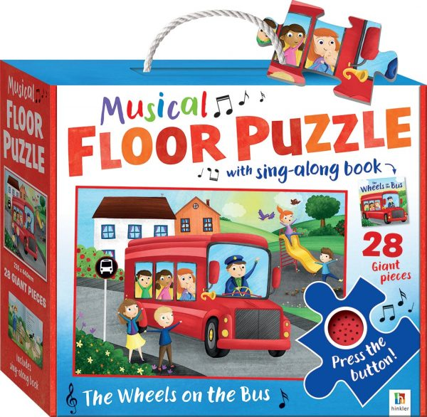 Musical Floor Puzzle with Sound - The Wheels on the Bus