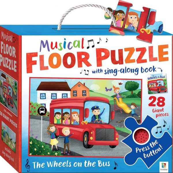 Musical Floor Puzzle with Sound – The Wheels on the Bus