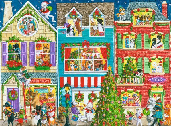 Ravensburger Christmas on Pet Street 1000 Piece Puzzle