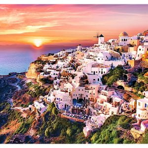 Sunset over Santorini 1000 Piece Trelf Puzzle