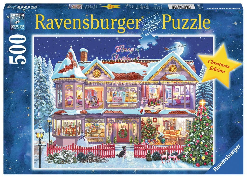 The Christmas House Ravensburger 500 Piece Puzzle