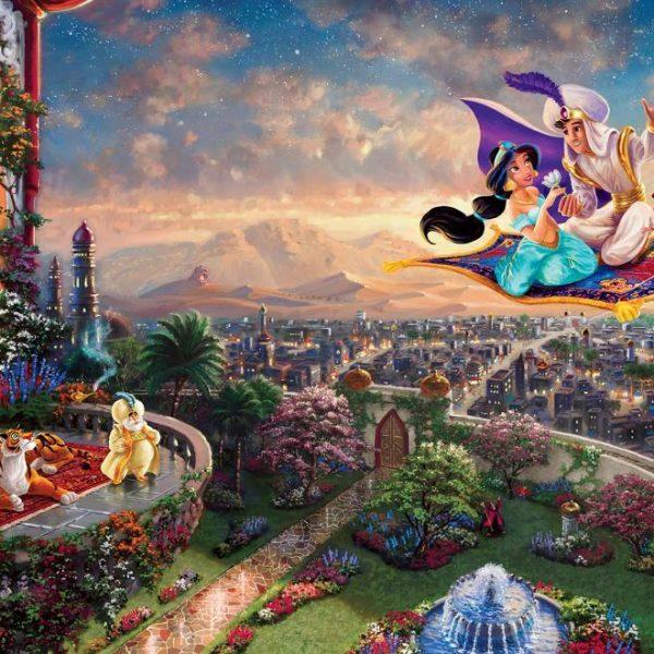 Thomas Kinkade – Disney Dreams – Aladdin 750 Piece Ceaco Puzzle