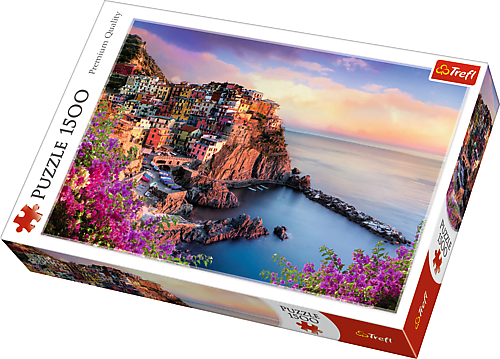 View of Manarola, Italy 1500 Piece Trefl Puzzle