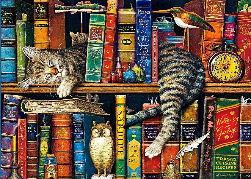 wysocki whiskers frederick the literate 1000 piece puzzle