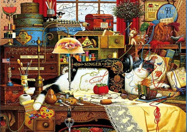 Whiskers - Maggie the Messmaker 1000 Piece Puzzle - Holdson