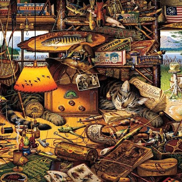 Wysocki Whiskers – Max in the Adirondacks 1000 Piece Puzzle