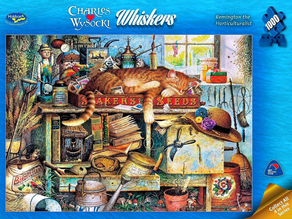 Wysocki Whiskers - Remington the Horticulturalist 1000 Piece Puzzle