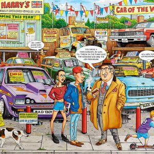 Best of British No 18 - Used car Lot 1000 Piece Puzzle