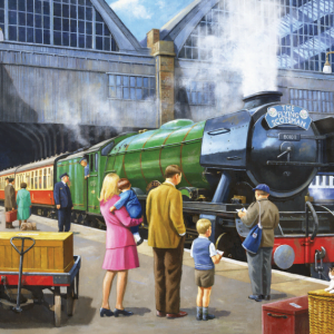 The Flying Scotsman at Kings Cross 1000 Piece Puzzle