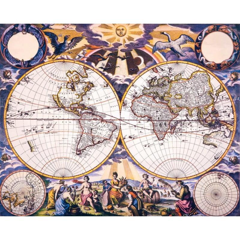 PIECE JIGSAW PUZZLE AT PUZZLE PALACE AUSTRALIA - 17th century world map