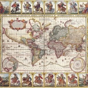 Antique World Map 1652 by Nicolas Visscher 1000 Piece Puzzle