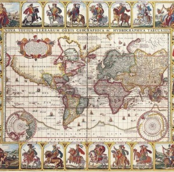 1000 piece puzzle antique world map 1652 by nicolas visscher antique world map 1652 by nicolas visscher 1000 piece puzzle gumiabroncs Images