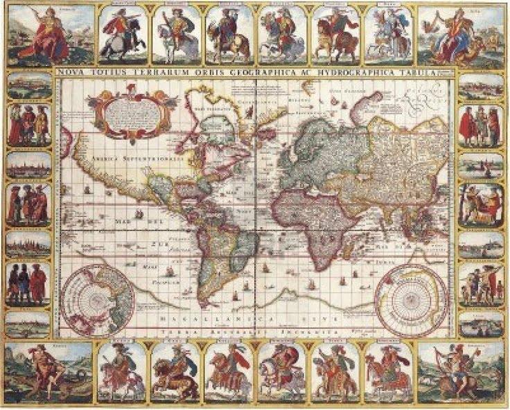 Antique World Map Puzzle.1000 Piece Puzzle Antique World Map 1652 By Nicolas Visscher