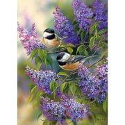 Chickadees & Lilacs 1000 Piece Puzzle - Cobble Hill