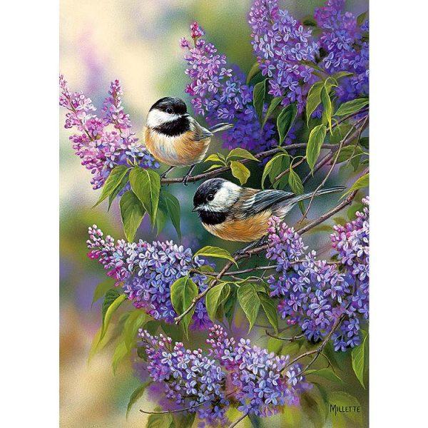 Chickadees & Lilacs 1000 Piece Puzzle – Cobble Hill