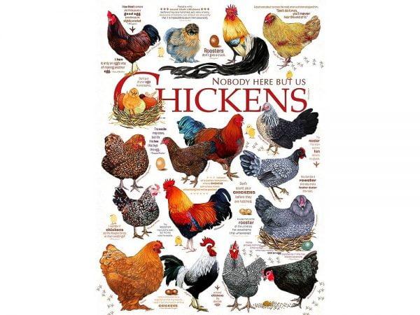 Chicken Quotes 1000 Piece Puzzle