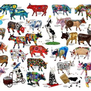 Cow Parade 1000 Piece Puzzle - Cobble Hill