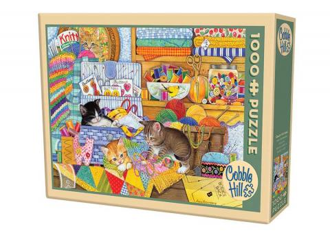 Crafty Kittens 1000 Piece Puzzle - Cobble Hill