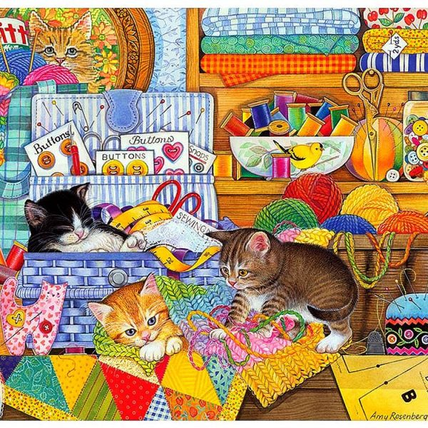 Crafty Kittens 1000 Piece Puzzle – Cobble Hill