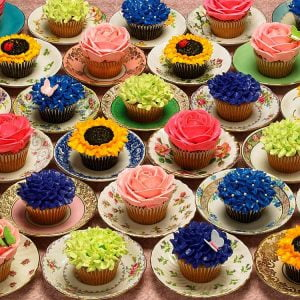 Cupcakes & Saucers 1000 Piece Puzzle - Cobble Hill