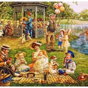 Family Picnic 1000 Piece Puzzle - Cobble Hill