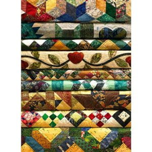 Grandma's Quilts 1000 piece Puzzle - Cobble Hill