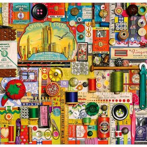 Sewing Notions 1000 Piece Puzzle - Cobble HIll