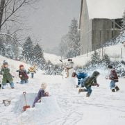 Snowball Fight 500 Piece Puzzle by Cobble Hill