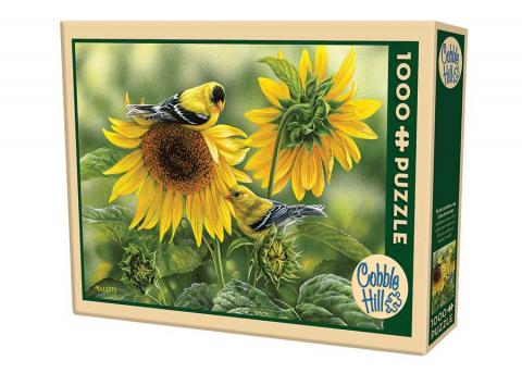 Sunflowers & Goldfinches 1000 Piece Puzzle
