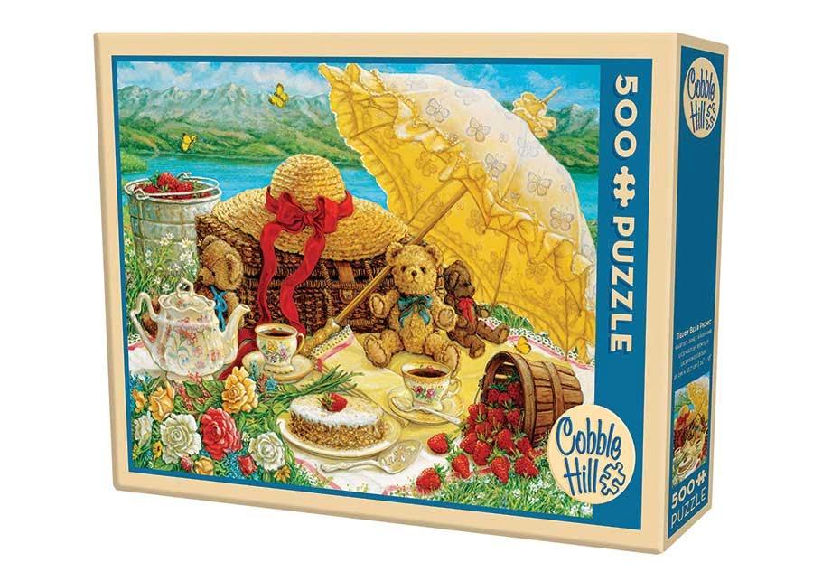 Teddy Bear Picnic 500 Piece Puzzle by Cobble Hil