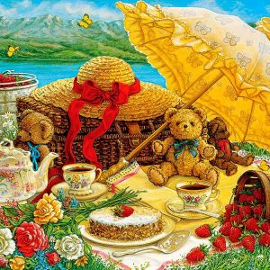 Teddy Bear Picnic 500 Piece Puzzle by Cobble Hill