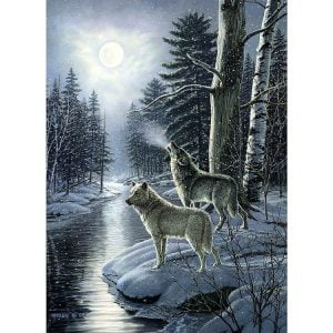 Wolves by Moonlight 1000 Piece Puzzle - Cobble Hill