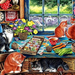 Cats Retreat 275 Large Piece Puzzle by Cobble Hill