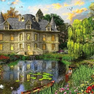 Picture Perfect 4 - Lake Mansion 1000 Piece Puzzle