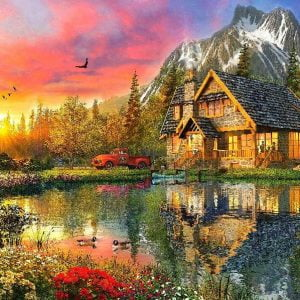 Picture Perfect 4 - Sunset Cabin 1000 Piece Puzzle