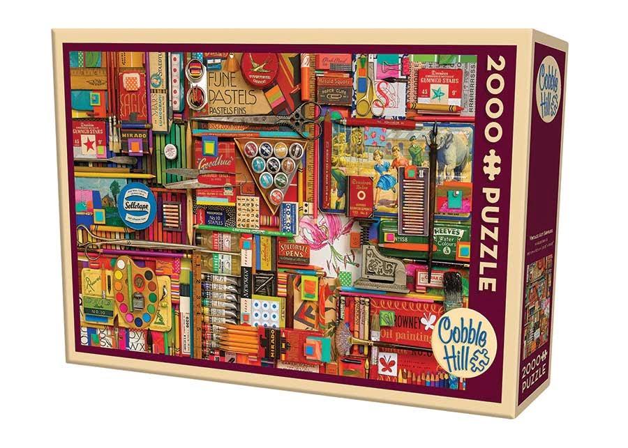 Vintage Art Supplies 2000 Piece Puzzle by Cobble Hill