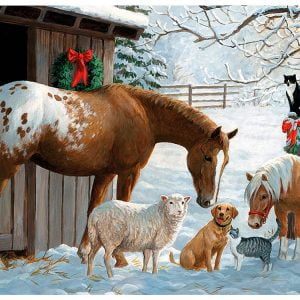 Winter Barnyard 350 Piece Family Puzzle by Cobble Hill
