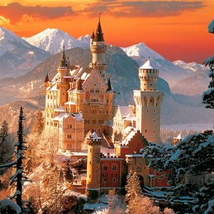 Wintry Neuschwanstein Castle 3000 Piece Puzzle