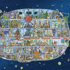 Adolfsson - Spaceship 1500 Piece Heye Puzzle