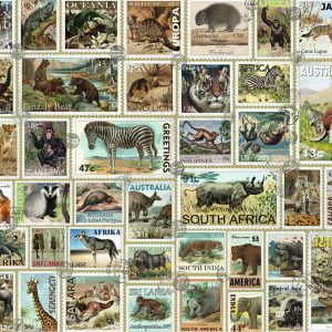 Animal Stamps 3000 Piece Puzzle - Ravensburger