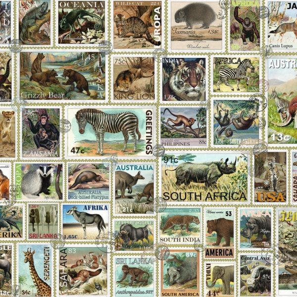 animal stamps 3000 piece puzzle by ravensburger. Black Bedroom Furniture Sets. Home Design Ideas