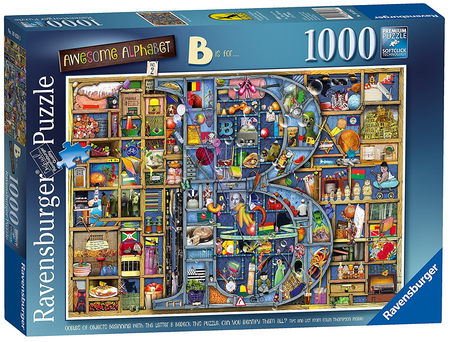 Colin Thompson Awesome Alphabet B 1000 Piece Puzzle