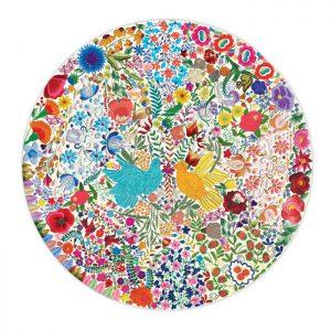 Blue Bird, Yellow Bird 500 Piece Round Puzzle eeBoo