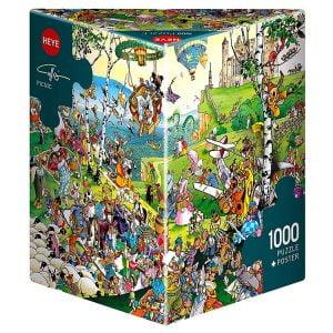 Calligaro - Picnic 1000 Piece Heye Puzzle