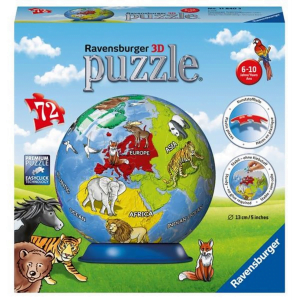 Children's Globe 72 Piece 3d Puzzleball - Ravensburger